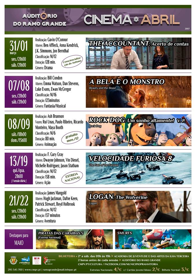 cinema abril 2017